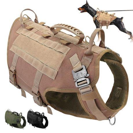 Військова тактична шлейка-жилет К-9 з сист. Molle для собак, розмір L