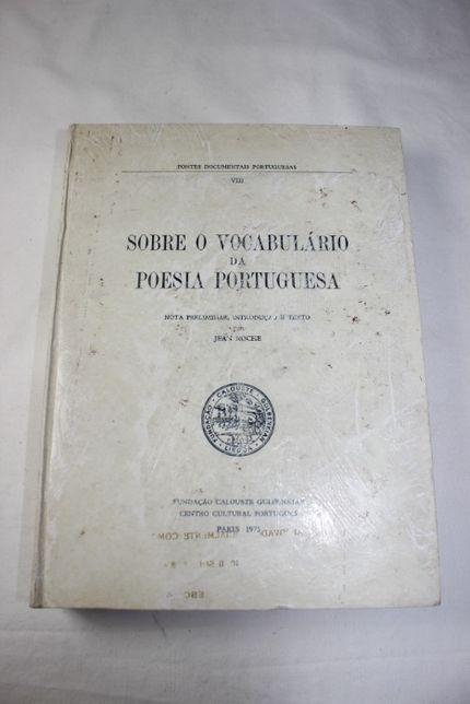 Livro-Sobre o Vocabulário Poesia Portuguesa-1975-Fundação C Gulbenkian