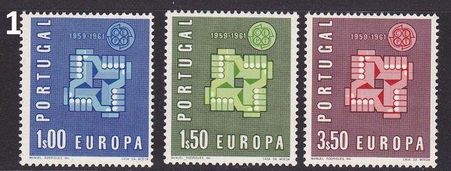 """Selos Portugal - 1961 Série """"Europa"""" Completa MNH (VER FOTOS)"""