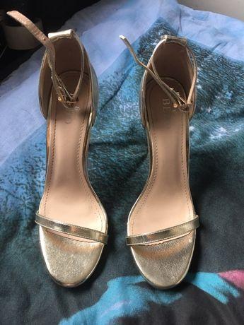 Sandałki złote 39