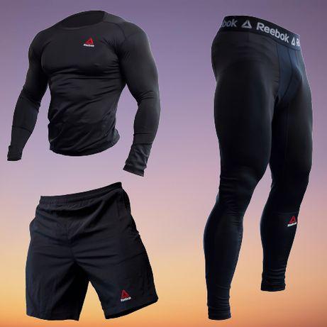 Компрессионная Одежда Для Спортзала REEBOK UFC 3в1 Рашгард Леггинсы