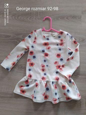 bluzka tunika dla dziewczynki w kwiaty rozmiar 92
