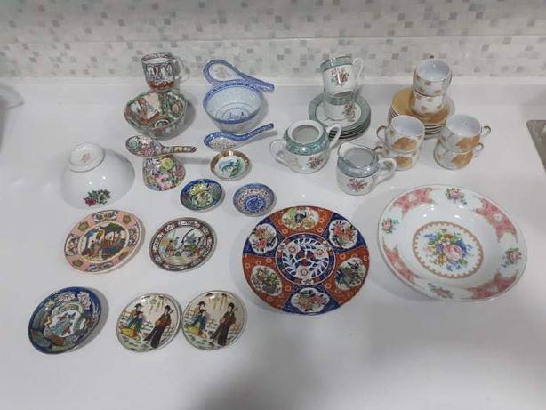 Peças em porcelana chinesa/ japonesa/ macaense - Várias