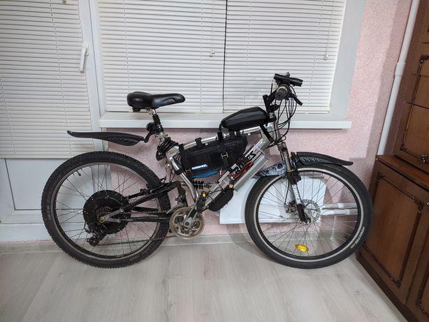 """Электровелосипед 1500W 48V 20Ah Двухподвес 26"""""""