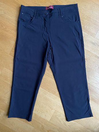 Biaggini granatowe spodnie 3/4 rozm 42