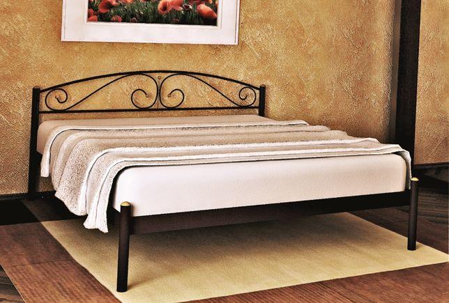 Металлическая кровать Верона, Комфорт, Маранта. Бесплатная доставка