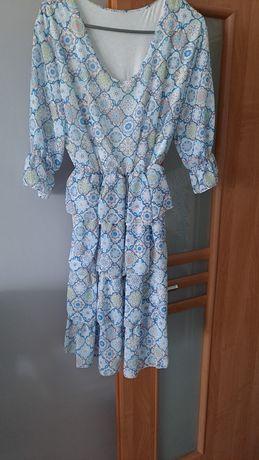 Sukienka damska  falbanka