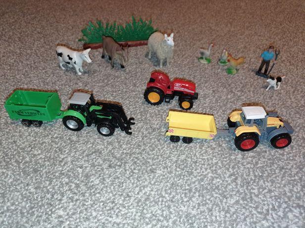 Farma zestaw nr 4 traktor, przyczepa, zwierzęta