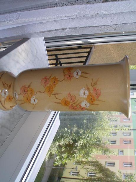 Wazon ceramiczny wysoki ozdobne kwiaty -nowy