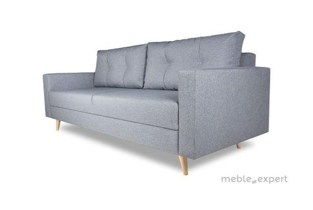 Sofa kanapa styl skandynawski nowoczesny rozkładana szara siwa łóżko