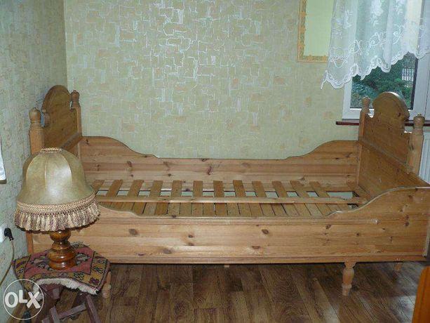 Łóżko plus stelaż-lite drewno(poch. Norwegia)