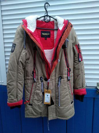 Куртка -парка зимняя . 12-15лет