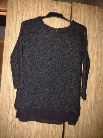 Oddam czarny sweter elegancki ZARA