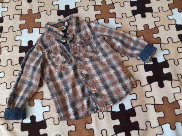 Стильная рубашка для мальчика с длинным рукавом