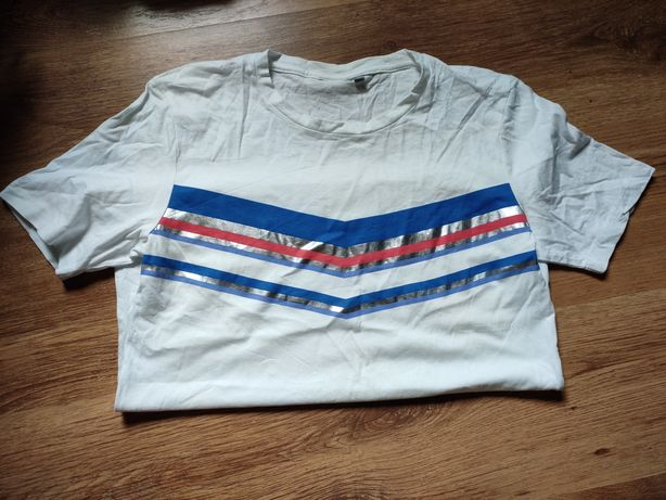 T-shirt B.Young paski stripes M brokat byoung tiana style biała koszul