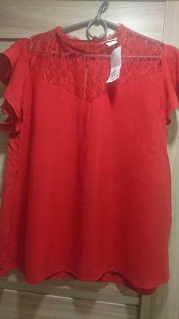 Блуза красная новая