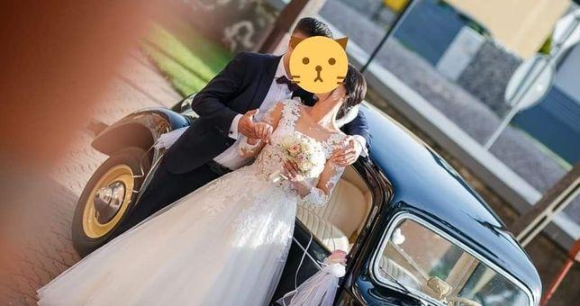 Suknia ślubna rozmiar 34/36 koło welon komplet