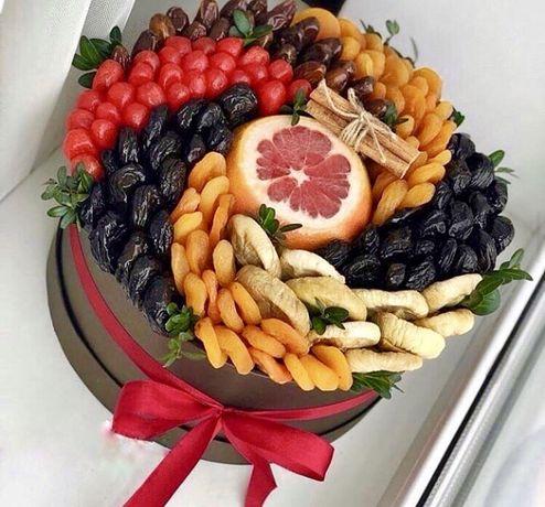 Букет из фруктов,мужские,сладостей.Быстро Фруктовые букеты!