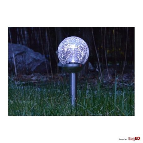 Lampa SOLARNA rgb led Lampka ogrodowa kula solar