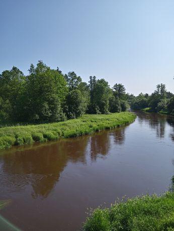 Harasiuki działka nad rzeką 26ar przy DW 858 1sza linia brzegowa Film