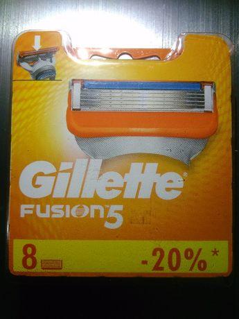 Съемные лезвия на бритву Gillette Fusion 5
