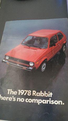 Volkswagen Golf prospekt 1978 rok