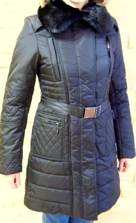 Nowa, czarna kurtka zimowa damska w rozmiarze S/M