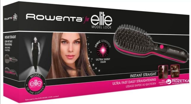 Расчёска-выпрямитель, утюжок щётка Rowenta Instant Straight Elite Look