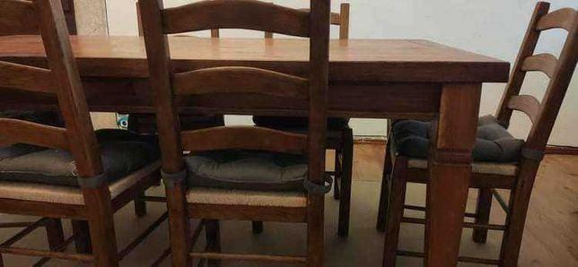 Vendo mesa e conjunto de seis cadeiras
