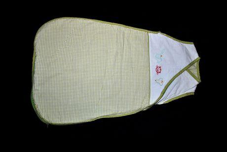Спальный мешок летний теплый демисезон 6-9 мес нежный салатовый