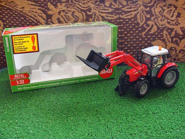 Siku Traktor Massey Ferguson 894 z ładowaczem skala 1:32 OKAZJA (opis)
