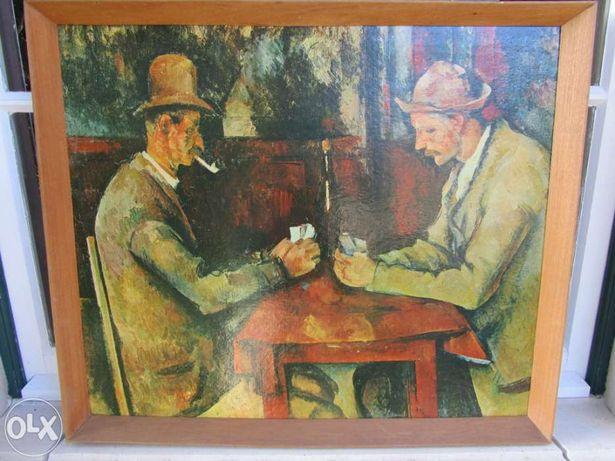 """Reprodução da pintura """"os jogadores de cartas"""" do paul cézanne"""