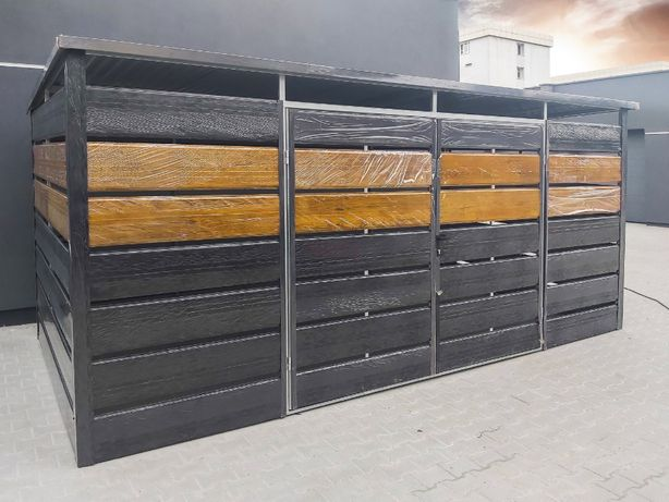 Wiata Śmietnikowa panelowa   śmietnik   altana 5x2,5m =TrashBox=