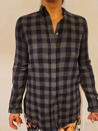 Camisa xadrez azul com cinza
