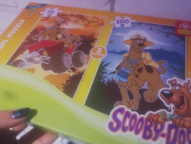 Puzzle Scooby Doo x2 100 elementów i 70