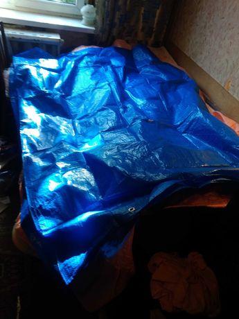 Тент универсальный синий.