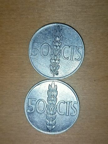 Hiszpania 1966, 50 centymów, moneta
