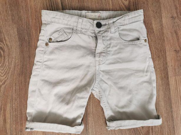 Krótkie dżinsowe spodenki ZARA 116 szare wygodne