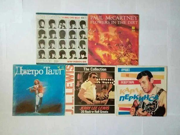 Пластинки The Beatles, Jethro Tull, Paul McCartney, Jerry Lee Lewis