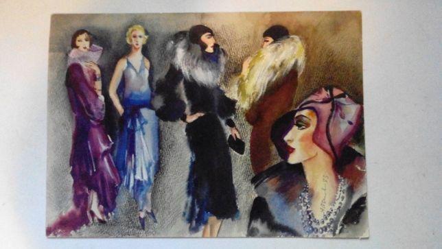 Женщины Мода в стиле Советский Конструктивизм подпись 1983г.