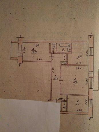 Продається 3-х кімн. квартира в с.м.т. Іршанск, Житомирської обл.