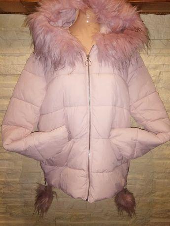 Nowa kurtka Sinsay rozmiar 42 pompony futerko