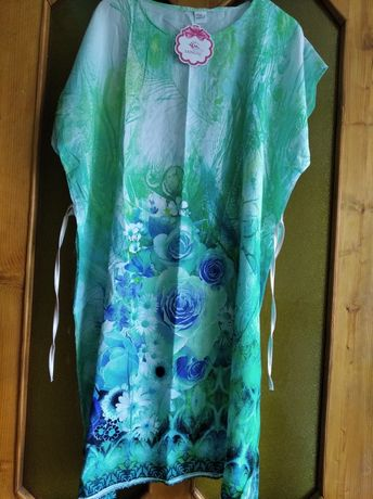 Летнее платье-туника 52-56 универсал