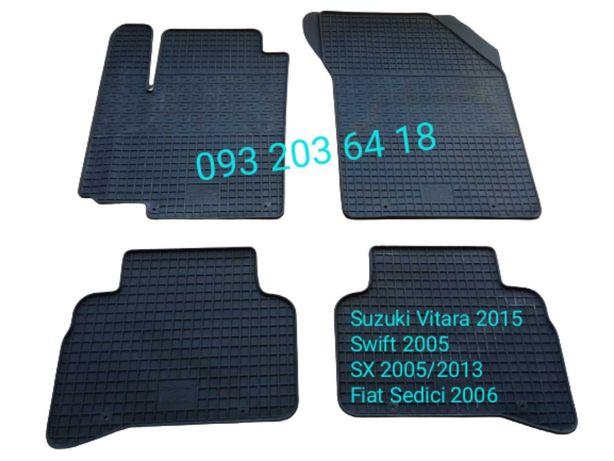 Коврики резиновые Suzuki Vitara 2015/Swift 2005/SX4/Fiat Sedici 2006