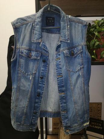 Жилетка джинсовая мужская. КАК НОВАЯ. Размер L. Джинсовка