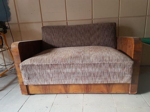 Kanapa fotel Art Deco PRL rozkładana amerykanka