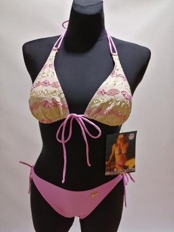 NOWY Kostium kąpielowy Bikini SELF S117VF Różowo-Fioletowy Złoty S M L