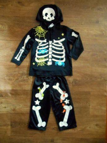 карнавальный костюм Скелет 2-3 года George хэллоуин 98 размер