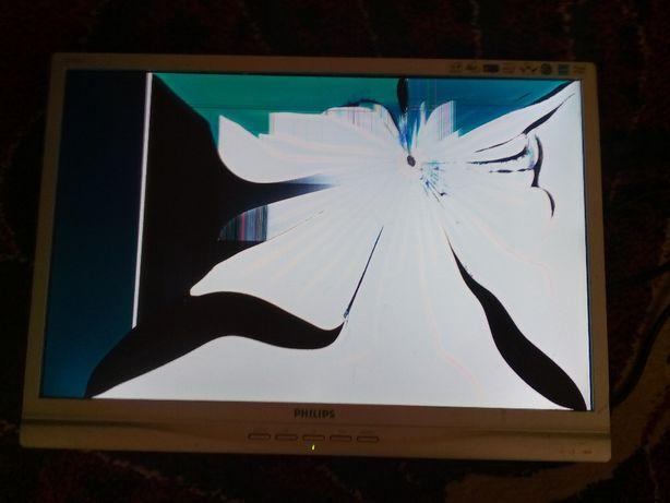 "Moнитор 19"" LCD Philips 190WV7CS/00 повреждена матрица"