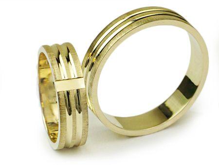 Złote Obrączki 585 I021 - Jubiler Goldrun CHORZÓW